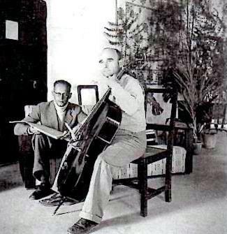 Gerhard Buelle und Vinzenet Dehra Dun 1944