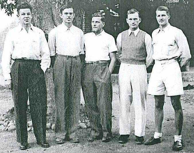 Herbert Paidar, Hans Lobenhoffer, Ludwig Schmaderer, Heinrich Harrer, Lutz Chicken