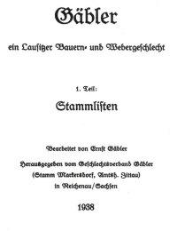 Gäbler, Lausitzer Bauern- und Webergeschlecht